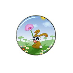 Easter Spring Flowers Happy Hat Clip Ball Marker (4 pack)