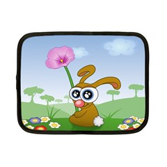 Easter Spring Flowers Happy Netbook Case (Small)