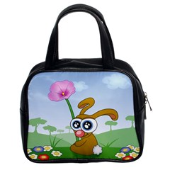 Easter Spring Flowers Happy Classic Handbags (2 Sides)