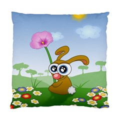 Easter Spring Flowers Happy Standard Cushion Case (One Side)