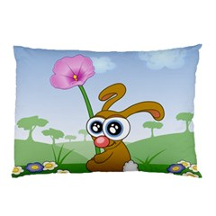 Easter Spring Flowers Happy Pillow Case