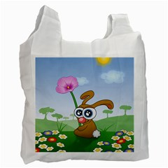 Easter Spring Flowers Happy Recycle Bag (Two Side)