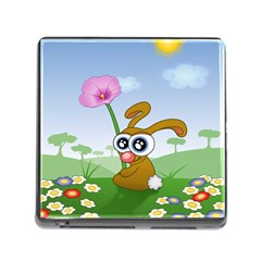 Easter Spring Flowers Happy Memory Card Reader (Square)