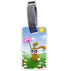 Easter Spring Flowers Happy Luggage Tags (One Side)