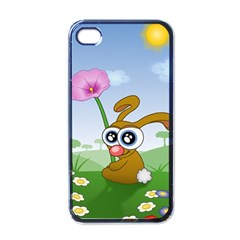 Easter Spring Flowers Happy Apple iPhone 4 Case (Black)