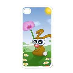 Easter Spring Flowers Happy Apple Iphone 4 Case (white)