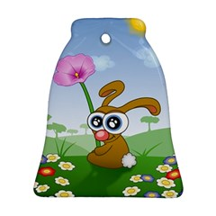 Easter Spring Flowers Happy Ornament (Bell)