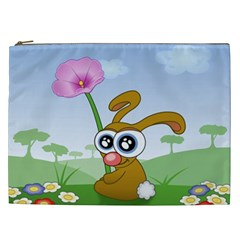 Easter Spring Flowers Happy Cosmetic Bag (XXL)