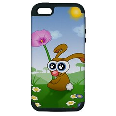 Easter Spring Flowers Happy Apple iPhone 5 Hardshell Case (PC+Silicone)