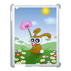 Easter Spring Flowers Happy Apple iPad 3/4 Case (White)