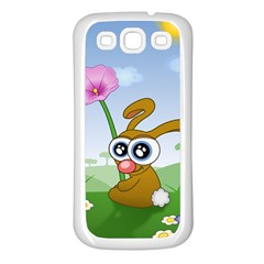 Easter Spring Flowers Happy Samsung Galaxy S3 Back Case (White)