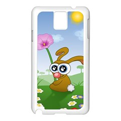 Easter Spring Flowers Happy Samsung Galaxy Note 3 N9005 Case (White)