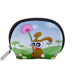 Easter Spring Flowers Happy Accessory Pouches (Small)