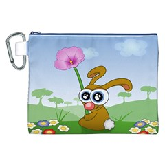 Easter Spring Flowers Happy Canvas Cosmetic Bag (xxl)