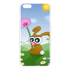 Easter Spring Flowers Happy Apple Seamless iPhone 6 Plus/6S Plus Case (Transparent)