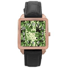 Flectar Rose Gold Leather Watch