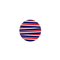 Red White Blue Patriotic Ribbons 1  Mini Buttons
