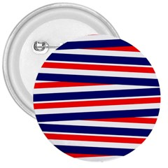 Red White Blue Patriotic Ribbons 3  Buttons