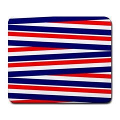 Red White Blue Patriotic Ribbons Large Mousepads