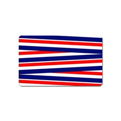 Red White Blue Patriotic Ribbons Magnet (Name Card)