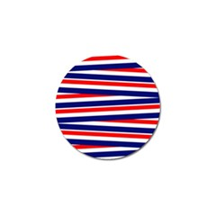 Red White Blue Patriotic Ribbons Golf Ball Marker