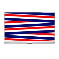 Red White Blue Patriotic Ribbons Business Card Holders