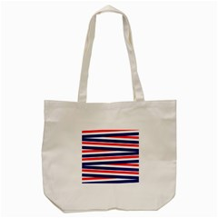 Red White Blue Patriotic Ribbons Tote Bag (cream)