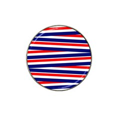 Red White Blue Patriotic Ribbons Hat Clip Ball Marker (10 pack)
