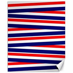 Red White Blue Patriotic Ribbons Canvas 16  X 20