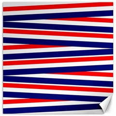 Red White Blue Patriotic Ribbons Canvas 20  x 20