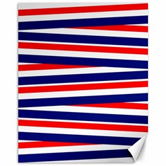 Red White Blue Patriotic Ribbons Canvas 11  x 14