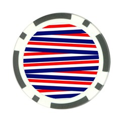 Red White Blue Patriotic Ribbons Poker Chip Card Guard
