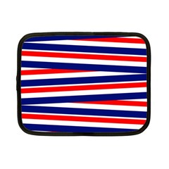Red White Blue Patriotic Ribbons Netbook Case (Small)