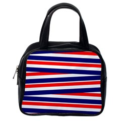 Red White Blue Patriotic Ribbons Classic Handbags (One Side)