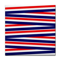 Red White Blue Patriotic Ribbons Face Towel