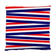 Red White Blue Patriotic Ribbons Standard Cushion Case (One Side)