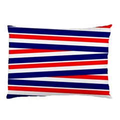 Red White Blue Patriotic Ribbons Pillow Case