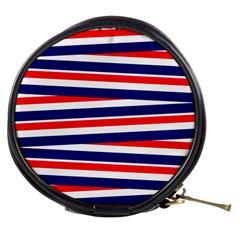 Red White Blue Patriotic Ribbons Mini Makeup Bags