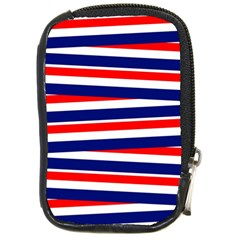 Red White Blue Patriotic Ribbons Compact Camera Cases