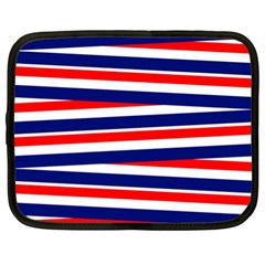 Red White Blue Patriotic Ribbons Netbook Case (xl)