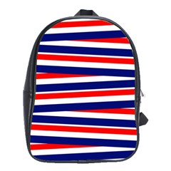 Red White Blue Patriotic Ribbons School Bags(Large)