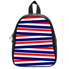 Red White Blue Patriotic Ribbons School Bags (Small)