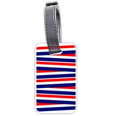 Red White Blue Patriotic Ribbons Luggage Tags (One Side)