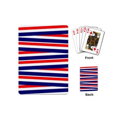 Red White Blue Patriotic Ribbons Playing Cards (Mini)