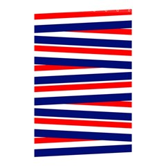 Red White Blue Patriotic Ribbons Shower Curtain 48  x 72  (Small)