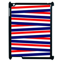 Red White Blue Patriotic Ribbons Apple iPad 2 Case (Black)