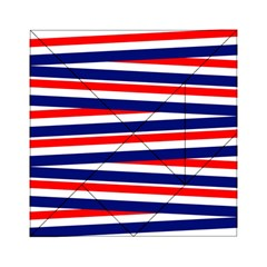 Red White Blue Patriotic Ribbons Acrylic Tangram Puzzle (6  X 6 )
