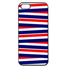 Red White Blue Patriotic Ribbons Apple Iphone 5 Seamless Case (black)