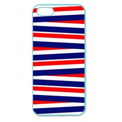 Red White Blue Patriotic Ribbons Apple Seamless Iphone 5 Case (color)