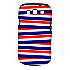 Red White Blue Patriotic Ribbons Samsung Galaxy S III Classic Hardshell Case (PC+Silicone)